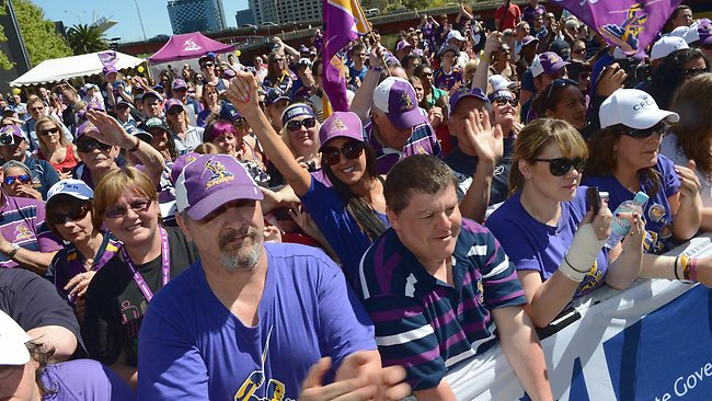 Melbourne Storm fans were out in force. Picture: Eugene Hyland