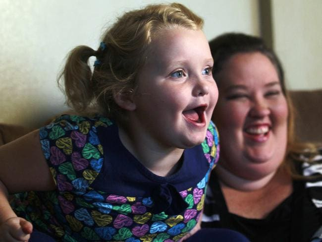 "Axed ... Alana ""Honey Boo Boo"" Thompson and June Shannon Picture: AP/John Bazemore."