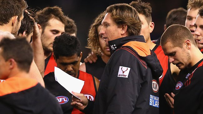 Faultering ... Essendon have lost four games in a row.