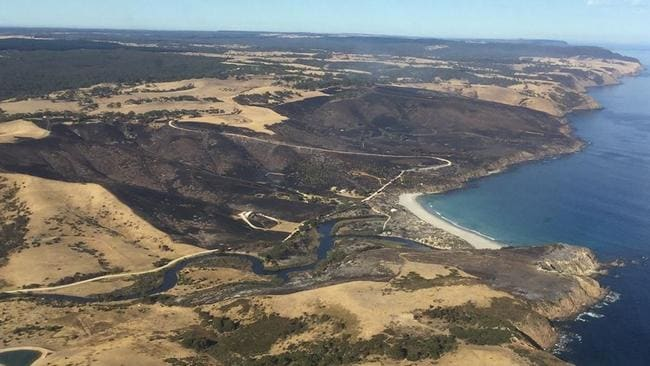 The bushfire has burnt about 370ha of land. Pictures: Country Fire Service