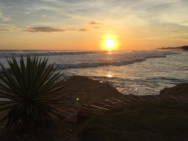 The sunset at Playa Santana. Picture: Gary Burchett