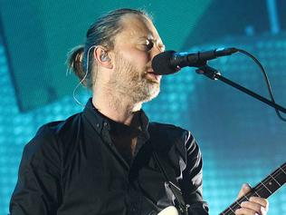 9.11.2012 BCM NEWS. Radiohead plays a sellout crowd in Brisbane for the first leg of their Australian tour. Thom Yorke Radiohead frontman. PIC MARC ROBERTSON.