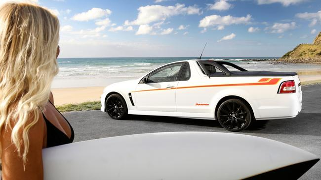 The Holden Sandman tribute edition ute, released in 2015. Picture: Supplied.
