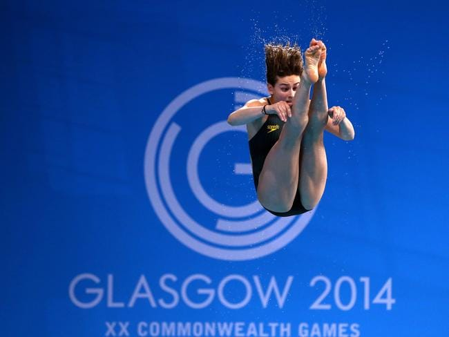 Maddison Keeney of Australia competes in the Women's 3m Springboard.