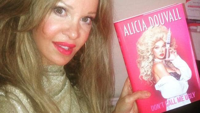 Alicia Douvall with her book. Picture: Supplied