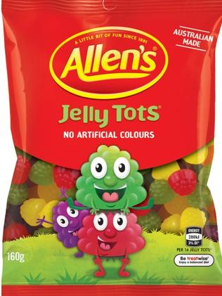 Jelly Tots are back, now in no artificial colour form!