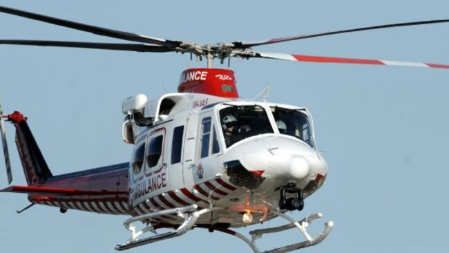 Ambulance helicopters have travelled to the scene. Picture: file photo