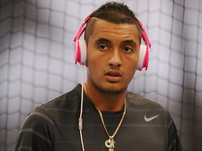 Nick Kyrgios is one of the big rising stars in tennis - but still a normal bloke. Picture:Wayne Ludbey