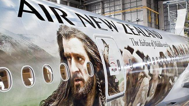 Air New Zealand Hobbit Plane. Picture: Supplied