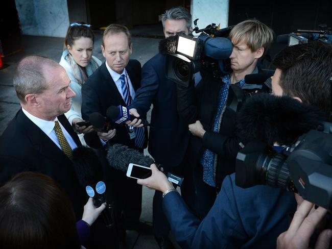 Martin Hamilton-Smith speaks to the media before the Cabinet meeting.