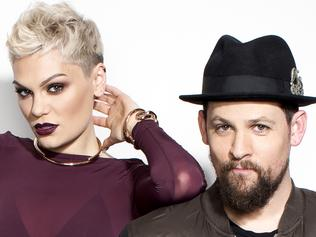 Supplied Entertainment EMBARGOED SUN MAY1 The Voice coaches Jessie J and the Madden brothers, Joel and Benji. Picture: S