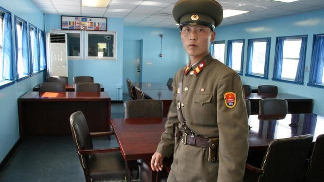 Everywhere you go in North Korea a minder goes with you. Or in Charles' case two. Picture: Charles Firth