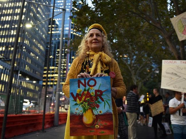 Australia's foreign policy should be independent from that of the US, the protesters say.