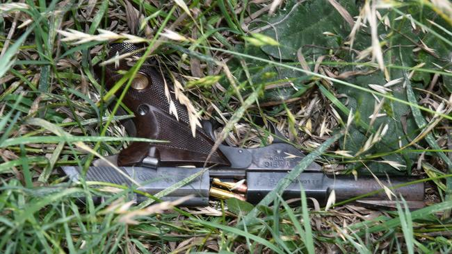 One of the pistols discarded. Picture: NSW Police