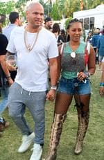 Mel B and Stephen Belafonte were spotted at the gardens talking. The two were trying to figure out what set to see next and went hand in hand to the next stage. Picture: BackGrid