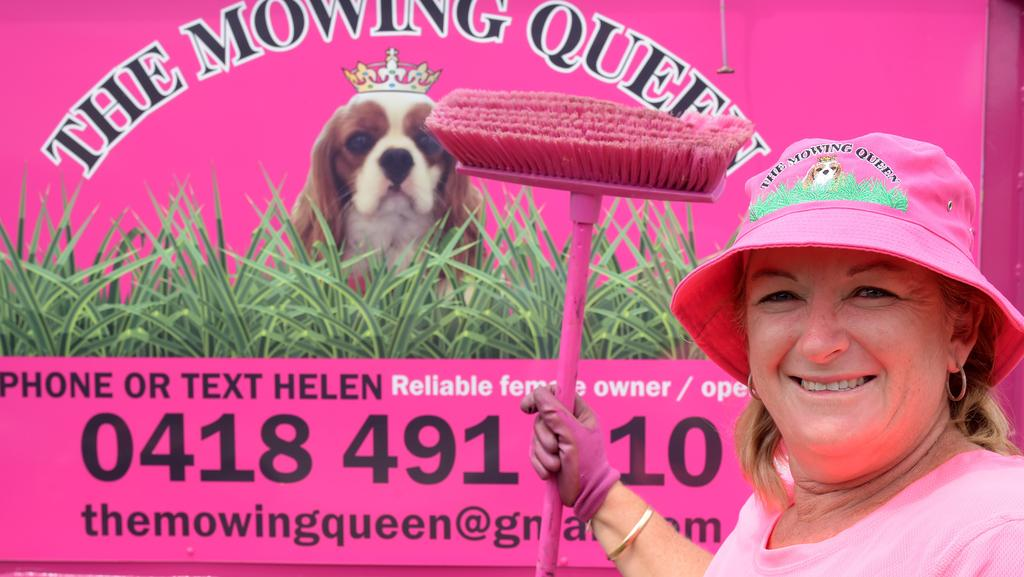 Helen Bansfield is the Mowing Queen of Schofields.