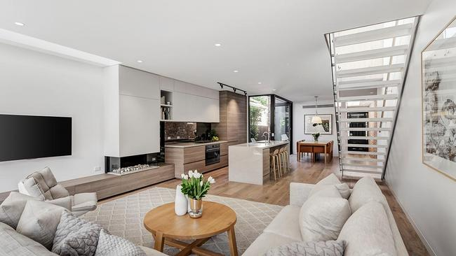 The striking interior of 64 Mason St, South Yarra, which sold for $3,075,000 in November 2017.
