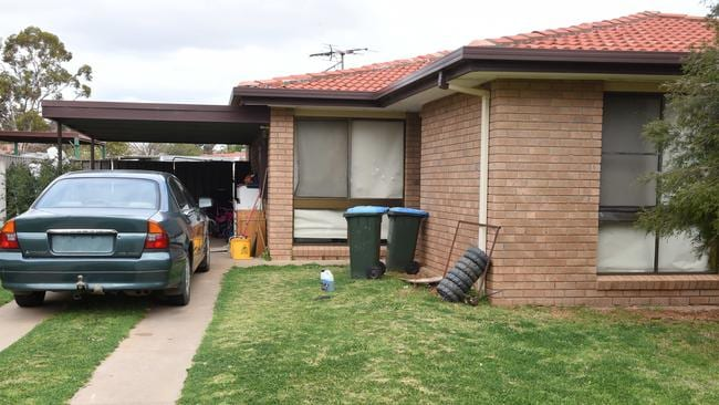 The home in Mildura where two-year-old Nikki Francis-Coslovich was found dead. Picture: Tony Gough