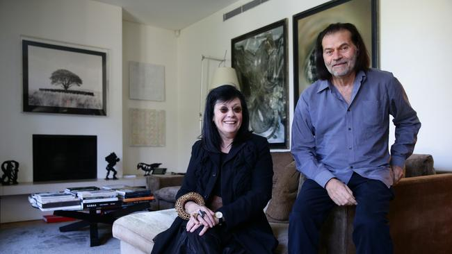 Brian Sherman with wife Gene in their Sydney home. Picture: Renee Nowytarger