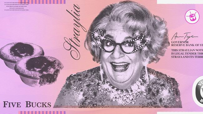 What could be more fair dinkum than 'Straya Cash' designed by Aaron Tyler. Picture: Aaron Tyler