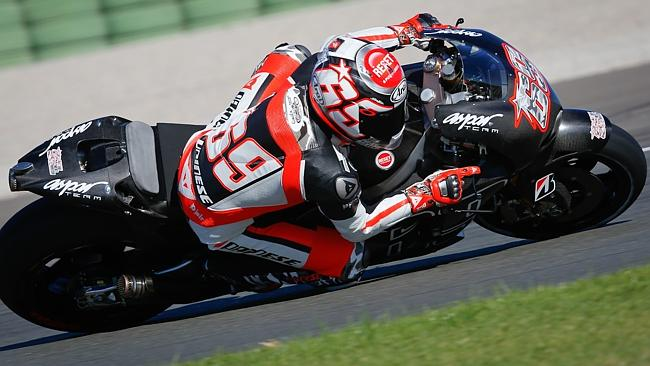 Hayden back on a Honda for the first time since the end of 2008.