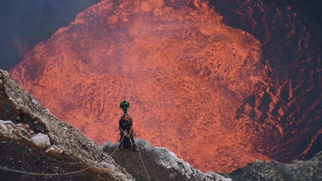 Google Street View Takes On An Active Volcano In Vanuatu