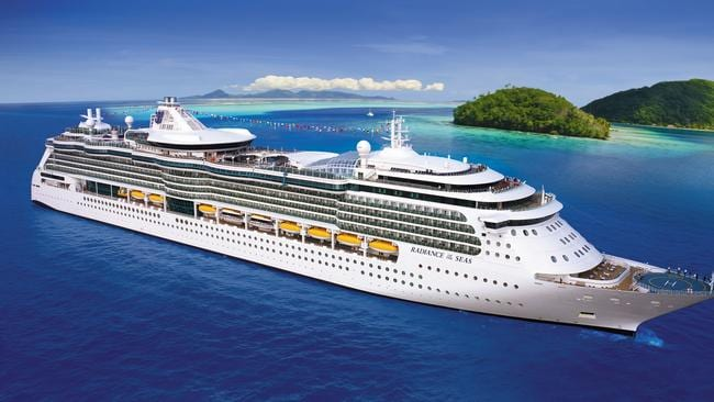 Royal Caribbean's Radiance of the Seas also had a sickly sailing. Picture: Supplied