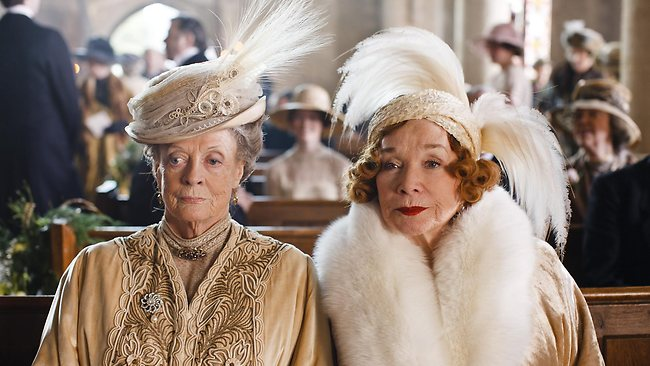 Maggie Smith and Shirley MacLaine in Downton Abbey