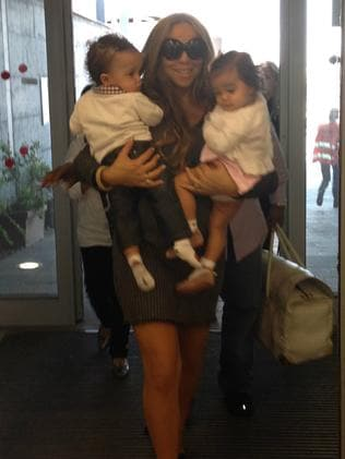 Mariah Carey with Dembabies, Monroe and Moroccan.