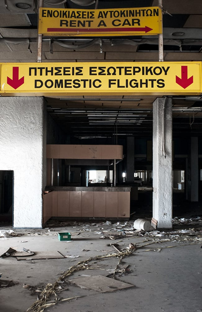 The airport hasn't been cleaned for years. Picture: Vassilis Makris