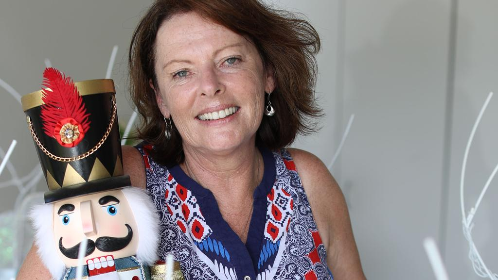 Nicola Price is known as having one of the best designed Christmas lights display in Cairns. Picture: Marc McCormack
