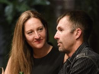 MAFS - Susan and Sean at a dinner party for the show. Picture: Channel 9