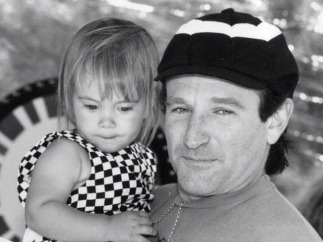 Robin Williams' last Instagram post. Wishing his daughter, Zelda Rae, happy birthday. Picture: Instagram