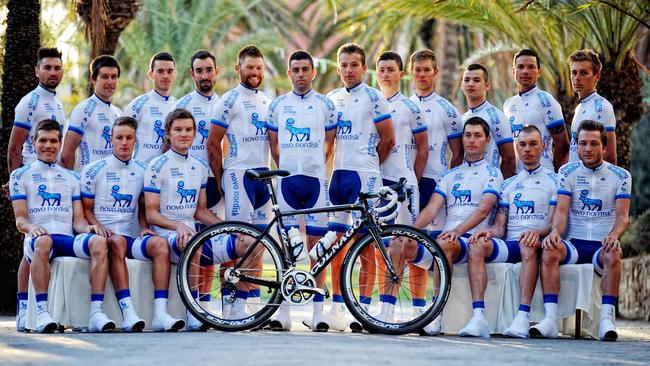 Brisbane cyclist Chris Williams who has diabetes and his Team Novo Nordisk - a professional cycling team whose members are all diabetic.
