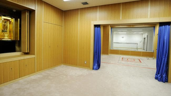 The execution room (right), inside the Tokyo detention house. Picture: AFP/JIJI PRESS