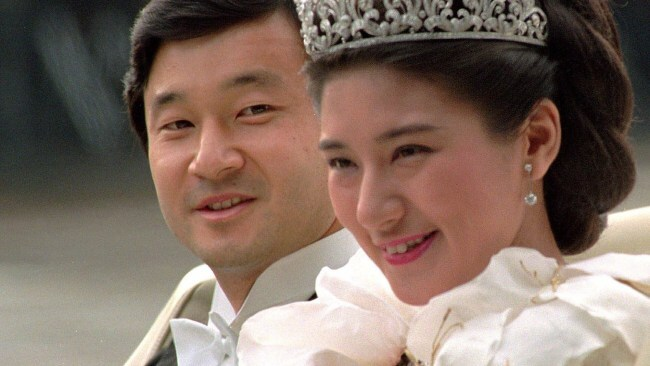 Newlywed Crown Prince Naruhito and Crown Princess Masako on their wedding day. Photo: File