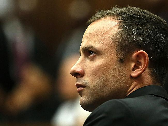 South African athlete Oscar Pistorius looks on during his court appearance. Picture: AFP