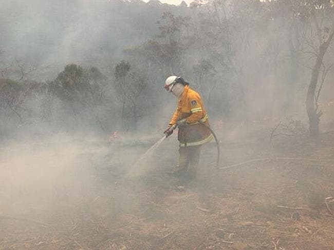 Smoke filled the air across the Blue Mountains as firefighters tried to stay on top of back burning efforts.