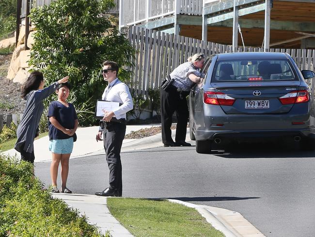 The footpath at Mudgeeraba where the boy was abducted. Picture: Glenn Hampson