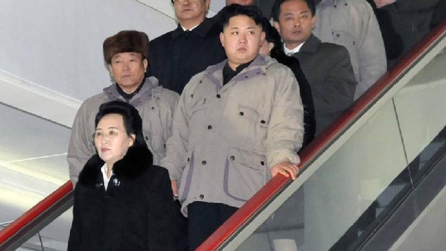 Kim Kyong Hui, with Kim Jong Un (right) behind her in 2011. AP Photo/Korean Central News Agency via Korea News Service