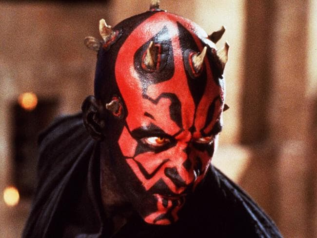 Spot the difference: Ray Park plays Darth Maul in scene from Star Wars: Episode I, The Phantom Menace.