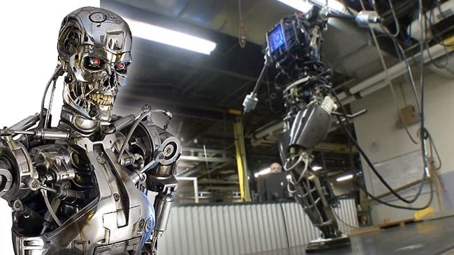 Terminator, meet ATLAS: The ATLAS project is making inroads into fully flexible two-legged robots that can maintain their balance and operate equipment.