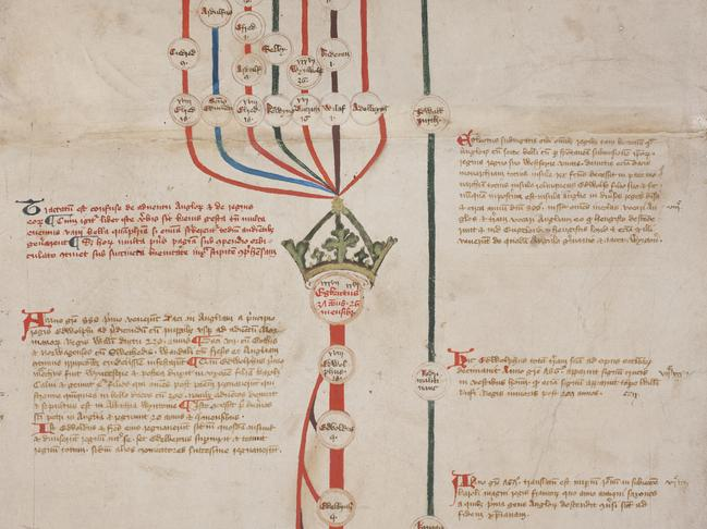 The scroll dates back to the Wars of the Roses, an ancient conflict that is said to have inspired Games of Thrones. Picture: University of Canterbury/Supplied