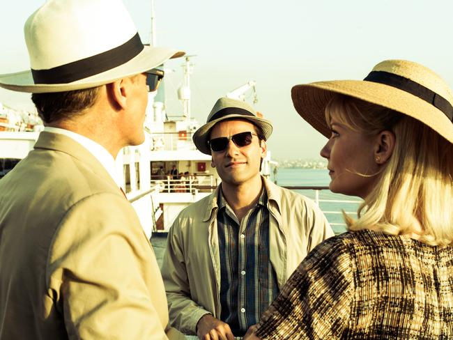 Viggo Mortensen, Oscar Isaac and Kirsten Dunst in a scene from film  <i>The Two Faces of January</i>.