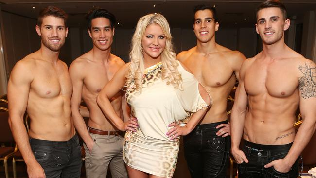 Mr World Finals. Nick Kennett, Michael Bui, Brynne Edelsten, Laurence Templar and Chris Nayna. Picture: Julie Kiriacoudis