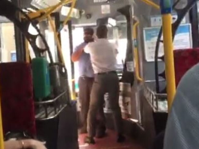 Hentai Redhead Fat bus driver fights with