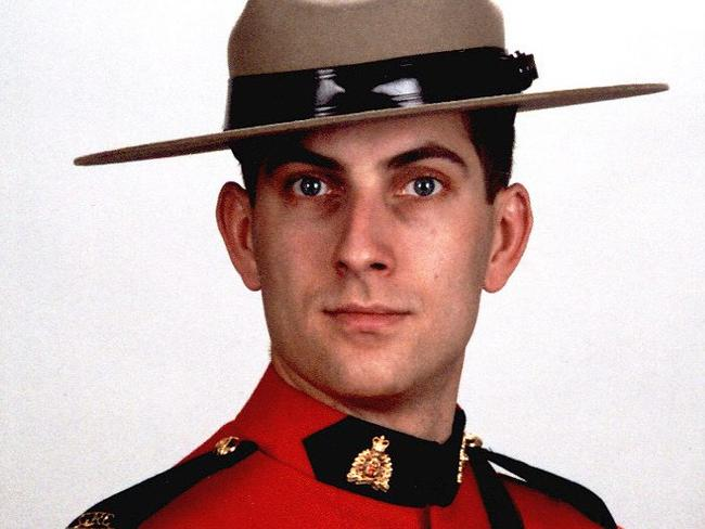 Tragic end ... Constable Douglas James Larche, 40, killed in Moncton on Wednesday in one of the deadliest mass shootings in the Mounties' history. Picture: Royal Canadian Mounted Police)
