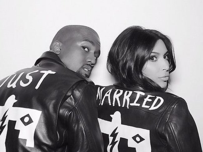 Newlyweds Kim Kardashian and Kanye West. Picture: Instagram