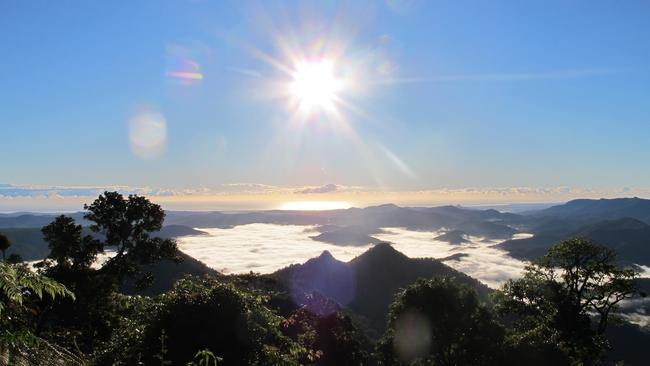 View from Mt Warning on a clear day. Photo: Melissa Lamb