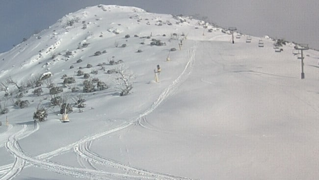 Aaaah, that's better. The steep run on the left is called Rock Garden, by the way. Picture: ski.com.au